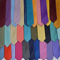 Узкий галстук-селедка цвета в ассортименте (5 см)