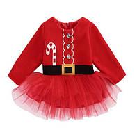Платье санты для девочки