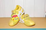 Кроссовки на девочку 26 р арт 5344 желтые., фото 3
