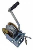 Лебедка ручная ,барабанного типа(стальной трос), 360кг(4,2*8м)