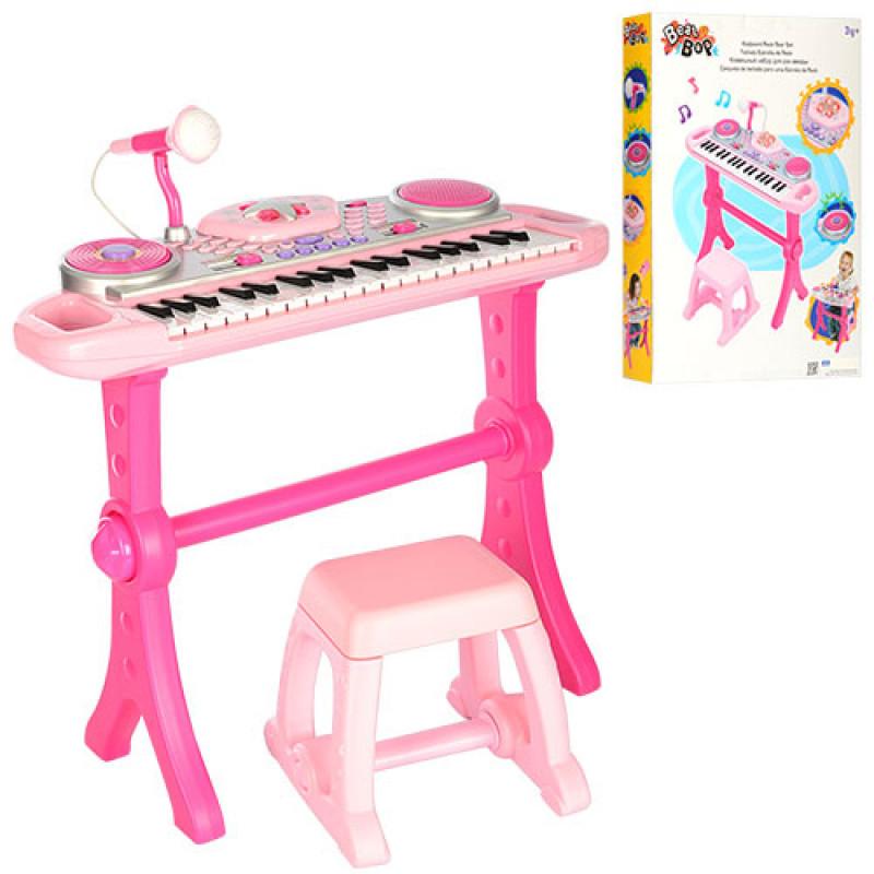 Детский музыкальный центр на ножкахсо стульчиком, WinFun 2068G-NL