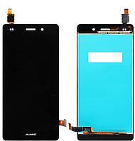 Дисплей (экран) для Huawei P8 Lite (ALE L21) + с сенсором (тачскрином) черный Оригинал