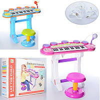 Детский музыкальный центр синтезатор, детское пианино на ножках со стульчиком, BB45BD