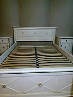 Кровать деревянная двуспальная из массива ясеня