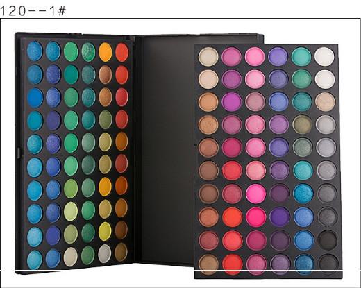 Профессиональная палитра теней для век  120 оттенков Цвет №1