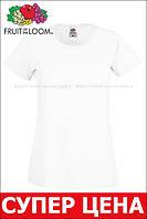 Женская футболка лёгкая Белая Fruit of the loom 61-420-30 L