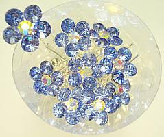 "Шпилька для волос ""Крупный Светло-Синий Цветок"" цена за 1 банку (20 шт)"