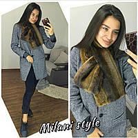Женский  модный и стильный шарф из эко меха, 2 модели норка