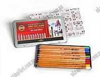 """Набор карандашей пастельных (12 цветов) Gioconda Koh I Noor """"KT"""" купить канцелярию оптом ZB-10"""