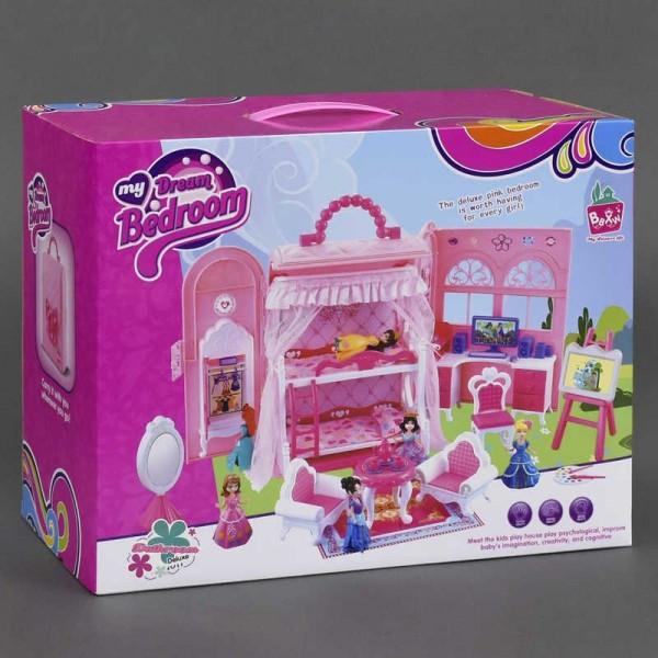 Домик кукольный Спальня с мебелью