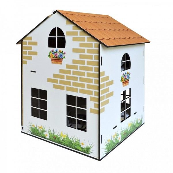 Домик кукольный деревянный с мебелью