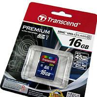 Карта памяти   SDHC 16Gb  Transcend class 10 (UHS-1 Premium 400х)
