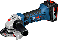 Аккумуляторная угловая шлифмашина Bosch GWS 18-125 V-LI Professional (4 А/ч, 125 мм)