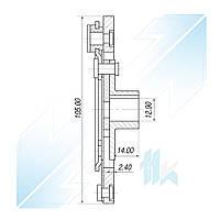 Пластина прижимная шкива компрессора, SANDEN 7V16, Диаметр 105,00 мм,