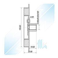 Пластина прижимная шкива компрессора, DENSO 6SEU16C, Диаметр 105,50 мм, Toyota