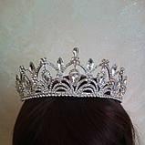 Корона для конкурса, диадема под серебро, тиара, высота 5,5 см., фото 4