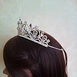 Корона для конкурса, диадема под серебро, тиара, высота 5,5 см., фото 6