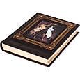 """Книга ілюстрована в шкіряній палітурці оформлена художнім тисненням """"Шедеври російського живопису"""", фото 3"""