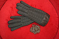 Тёплый вязаный женские перчатки