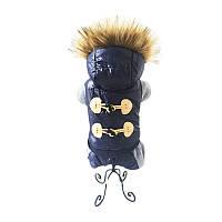Комбинезон для собаки с капюшоном Черный