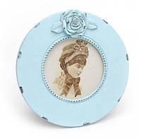 Фоторамка круглая Amelia blue