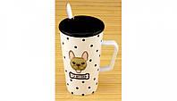 Керамическая чашка с крышкой Моя Любимая Собака 3 вида