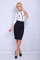 Женская стильная черная юбка Давина ТМ Luzana 42-50 размеры