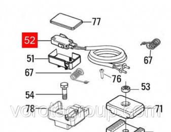 Микровыключатель концевой MOBY, TOONA (CMMO1.8003)