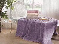 Tivolyo home махровая простынь  ELIPS 1,5 сп.    т.фиолетовый