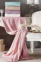 Tivolyo home махровая простынь  ALORA полуторный  розовый