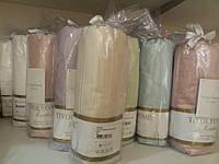 Tivolyo home сатиновая простынь на резинке евро розовая