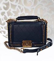 Сумка Chanel материал искусственная кожа, размер 24*18 см, цвет черный