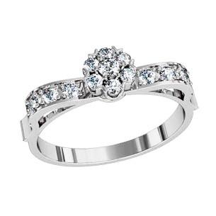 Кольцо  женское серебряное Артемида 111570