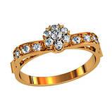 Кольцо  женское серебряное Артемида 111570, фото 2