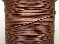 Нить полувощёная плетёная 0,8 мм коричневая ИТАЛИЯ