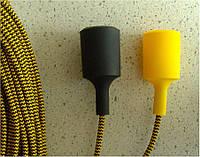 Текстильный провод черно-желтого цвета, шеврон, зиг-заг, елочка., фото 1