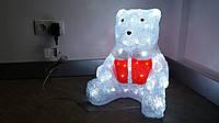 Акриловый медведь с подсветкой 80 led 34х33х40 мм