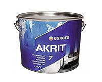 Краска  латексная ESKARO AKRIT 7 интерьерная белая-база А 2,85л