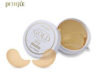 Гидрогелевые премиум-патчи для глаз с золотом и EGF Petitfee Premium Gold & EGF Eye Patch