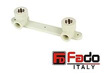 Колено PPR 20*1/2 ВР монтажное на планке полипропиленовое FADO Италия