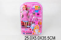 "Кукла типа ""Барби""Хозяйка"" 4400A (1590738 (56шт/2) пылесос,веник,совок,ведро,щетки"