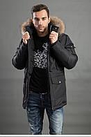 Мужская куртка с меховым капюшоном Hermzi HP-071