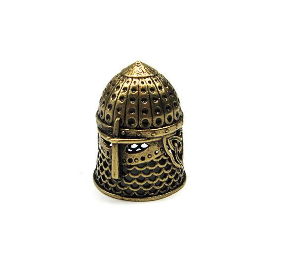 Наперсток бронзовый коллекицонный Шлем