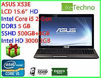 """Ноутбук ASUS X53E 15.6"""" Core i5/RAM 6GB/SSHD 500GB/Intel HD/нов.бат."""