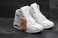 Кроссовки женские зимние Nike Air Max 90 белые мех