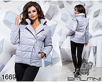 Ledi M Женская осенняя куртка BL 16698 светло-серый Леди М
