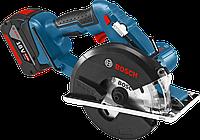 Аккумуляторная циркулярная пила Bosch GKM 18 V-LI Professional (4 А/ч, 4250 об/мин)