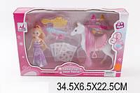 Кукла 05002C (1450669)   с лошадкой, расческой,ожерелье,аксесс
