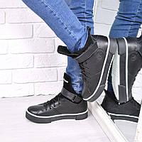 Ботинки женские Timberland Sport Зима черные 3864,