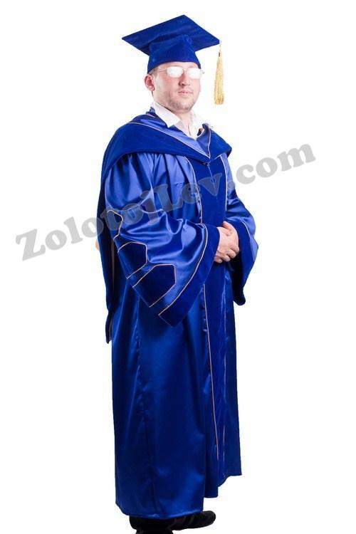 Мантия профессора синяя